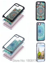 Buy Flower Mandala Hybrid Case Iphone 7 Iphone7 I7 Plus 6 6S Fashion Hard PC TPU Armor Datura Vintage Paisley Camo Cover 100pcs for $294.00 in AliExpress store