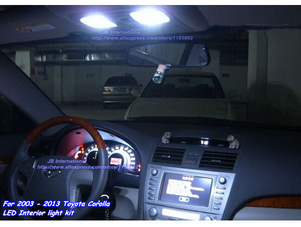 parking led interior light bar kit for toyota corolla2003 2008 2009 2010 2011 2012 2013 car led. Black Bedroom Furniture Sets. Home Design Ideas