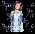 Girl Clothing Winter Butterfly Princess Dress Infant Party Dress Unicorn Print Children Kids Baby Girls Autumn