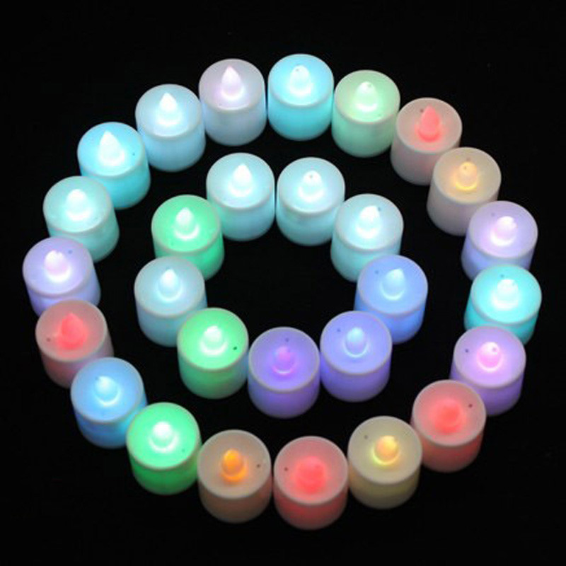 Safe Mini Colorful Romantic Electronic Candle LED Light For Party Wedding Decoration JAN26