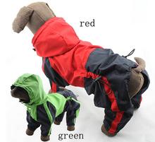 1 шт./лот большая собака мода комбинезоны больших собак пу плащ со шляпой собак дождь куртки домашних животных домашних животных одежда для животных костюмы XS-XL