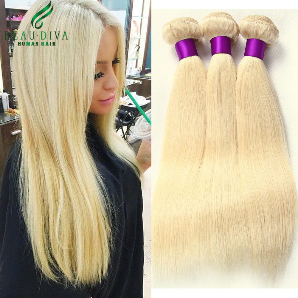 Blonde Brazilian Virgin Hair Straight 3 Bundles 613 7A Weave - BEAU DIVA Official Store store