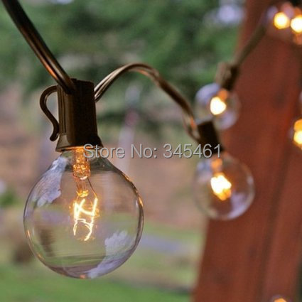 Outdoor String Lights Aliexpress : Decro 25 Ft Clear Globe G40 String Lights Set with 25 G40 Bulbs Included Patio Lights & Patio ...