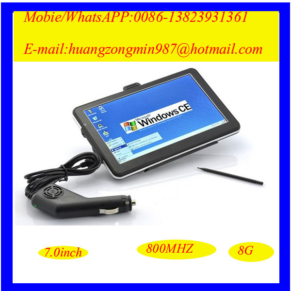 7 inch gps navigation and radar detector with wince 6.0 gps maps(China (Mainland))