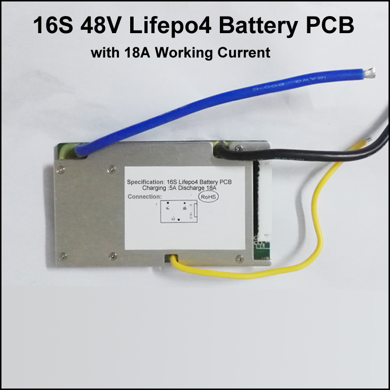 16S 48V Lifepo4 battery protection circuit board BMS and PCB 58.4V with Max 18A constant discharge current Balance function(China (Mainland))
