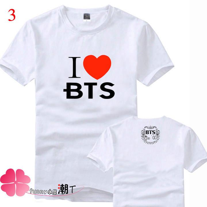High quality New BTS T-shirt Bangtan Boys Fashion Men And Women Tee Kpop Summer Style Number Printed short sleeves T shirt(China (Mainland))