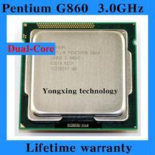 Lifetime warranty Pentium G860 3.0GHz 3M Dual Core desktop processors CPU 860 Socket LGA 1155 pin Computer