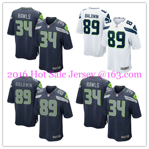 2016 men's 100% Stitched logo, ship out fast.Best quality @1 Style Seattle @1 Seahawks @1 free Shipping(China (Mainland))