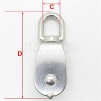 1шт один шкив шкив вращающееся колесо погрузка подъема шкив m25 нержавеющая сталь 304