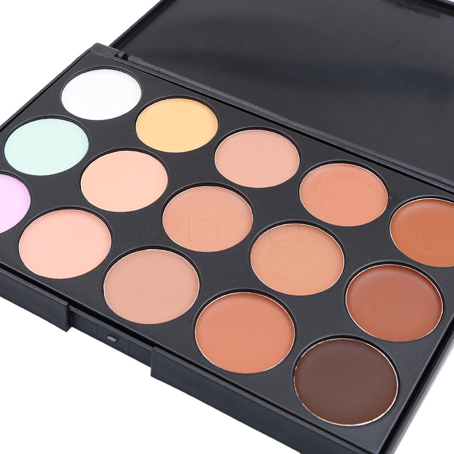 15 Concealer Palette Makeup Sets 15 Colors Professional Brush Puff Foundation Cream Round Face Contour Kit Color Corrector(China (Mainland))