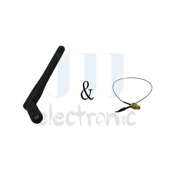1 2dBi Dual Band WiFi RP-SMA Antenna + 1 U.fl Cable for Netgear Routers WN2500RP(China (Mainland))