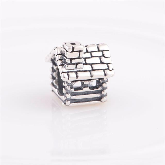 Аутентичные стерлингового серебра 925 бусины европейский дом дизайн женщины DIY ювелирных изделий подходит Chamilia стиль браслет