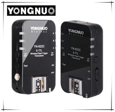 Yongnuo YN-622C II YN622C Wireless ETTL Flash Trigger Receiver Transmitter Transceiver for Canon 70d 6d 650d 1100d 550d 60d 600d(China (Mainland))