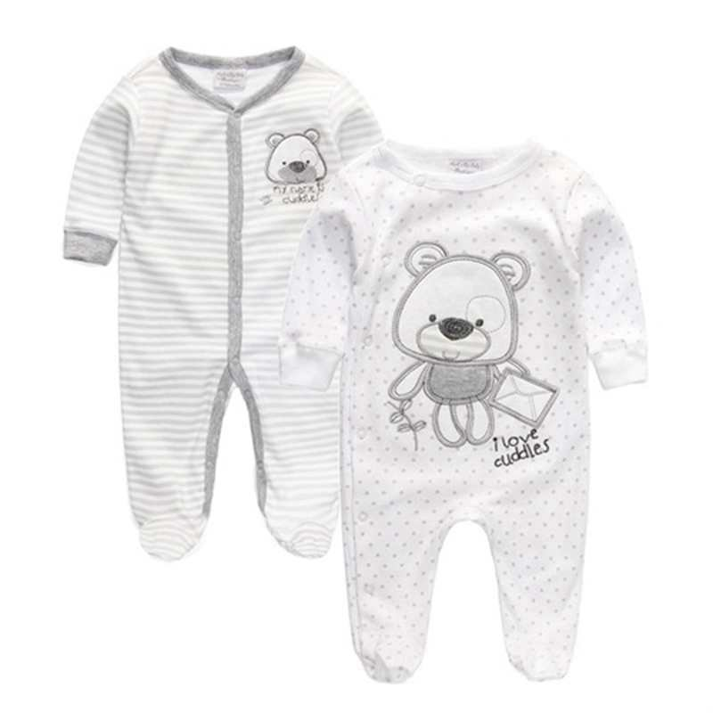 Summer 2016 Newborn Baby Girl Boy Clothes Baby Rompers Long Sleeve Cotton Sleepwear Pajamas Infant clothing 0-12 Months(China (Mainland))