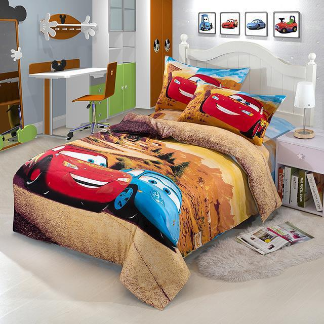 Race Car Kids Boys Cartoon Bedding Comforter Set Children