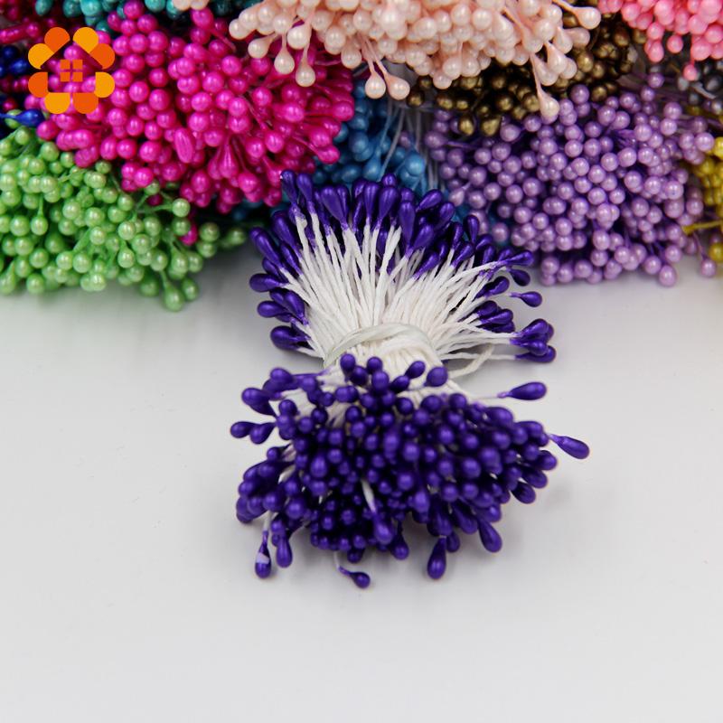 300pcs Mini Pearl Stamen Handmake Artificial Flower Head