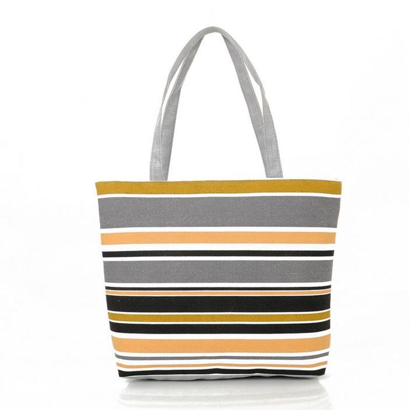 Women Handbag Canvas Beach Bag Stripe Female Printing Tote Shoulder Bags Shopping Big Bags Bolsas Feminina Sac A Main Neverfull(China (Mainland))