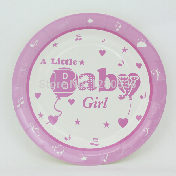 baby girl baby shower theme party paper plates birthday party plates
