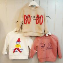 New Fashion Spring Children Sweatshirt Long Sleeve Letter & Cartoon Human Print Kids Pullover Outerwear Boys Girls Sweatshirt(China (Mainland))