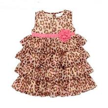 Keelorn 2016New Fashion summer 1pcs baby girl's leopard print dress cute Children's dresses Children's clothing 0-24months(China (Mainland))