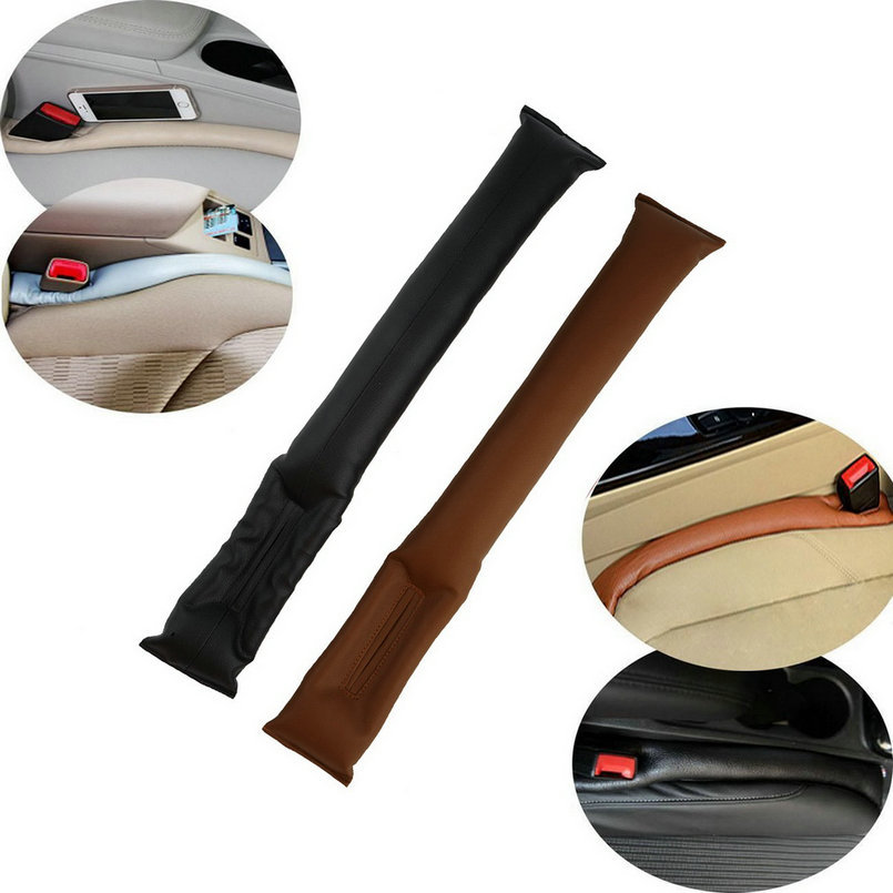 HOT 2015 PU Leather Car Seat space Pad Fillers Space Filler Padding Protective Case Auto Cleaner Clean Slot Plug Stopper(China (Mainland))