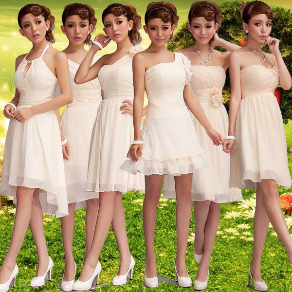 demoiselles d 39 honneur groupe robe de soir e de mariage 6 diff rents styles champagne rose fleurs. Black Bedroom Furniture Sets. Home Design Ideas