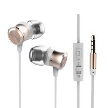 Nuevo 3.5mm en la oreja los auriculares estéreo de auriculares auriculares con el mic para el iphone samsung xiaomi mp3 mp4