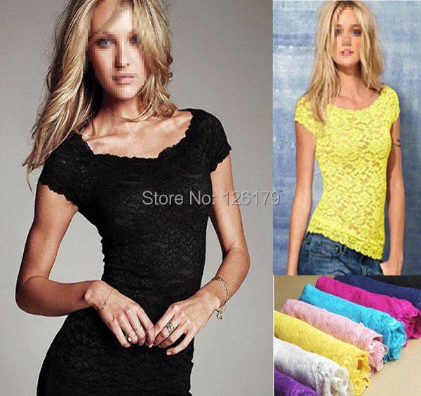 Causual майка женщины лето desigual твердые тонкий кружева футболка дамы сексуальные топы 8 цвета camisas femininas женской одежды
