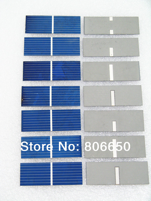 100 pcs 17.6% efficiency 52x19mm solar cell, poly crystalline solar panel DIY Kit value pack,high quality and free shipping(China (Mainland))