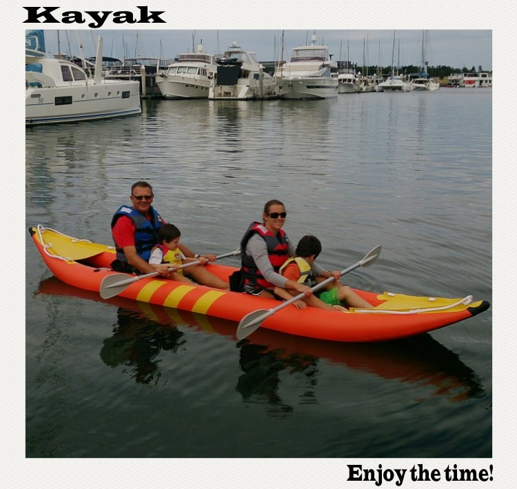 Top selling inflatable kayak fishing orange color for Best inflatable fishing kayak