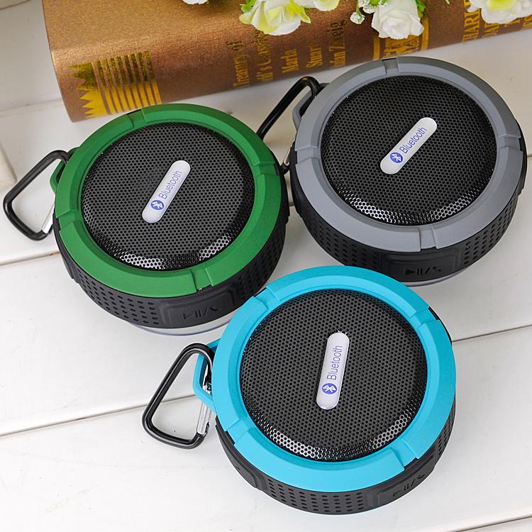 Ultra Slim Portable Waterproof Outdoor Sport Wireless Bluetooth Speaker Handsfree Car Speaker With Microphone(China (Mainland))