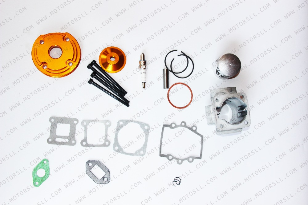 cheapest High Performance Big Bore Kit 44mm Cylinder Piston for 47cc49cc 2stroke Mini Moto Dirt Pocket Bike ATV Quad Minimoto
