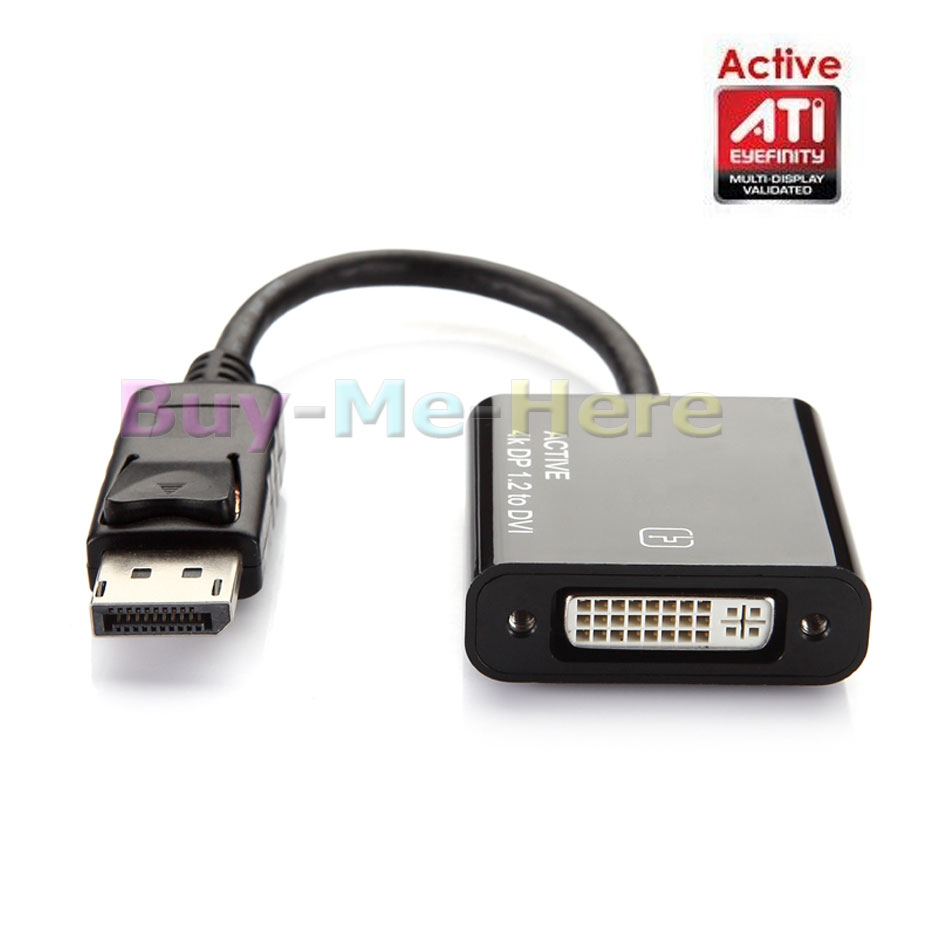 Active ATI Eyefinity 4K DisplayPort DP Male toDVI Female Video Audio HDTV Adapter Converter Multiple Monitor Technology<br><br>Aliexpress