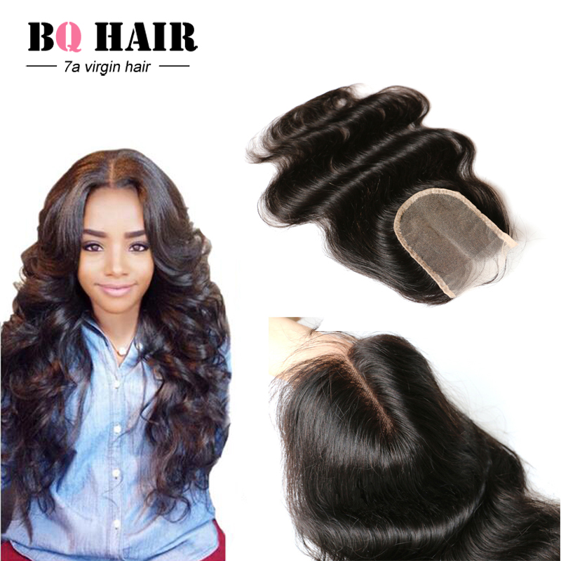 New Arrival TOP 7A Peruvian Lace Closure Body Wave Free Middle Three Part Closure Peruvian Body Wave Lace Closure Bleached Knots<br><br>Aliexpress
