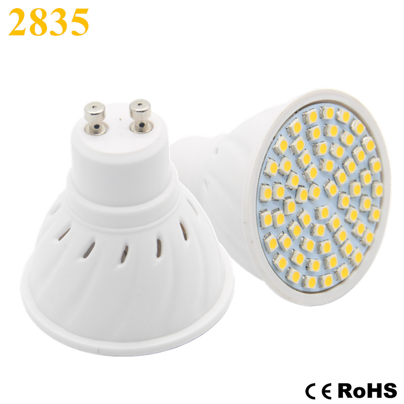 Lamparas bombillas led lamp gu10 220v 2835 leds focos for Lampe led jardin