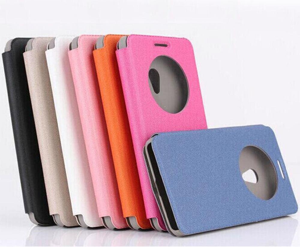 Asus Zenfone 4 4S A450 Dot Round Hole Design Phone Cases Window bag Cover Flip PU Leather Case - Shenzhen Dingtian Technology Co., LTD store
