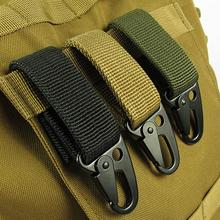 EDC tool outdoor camping D-carabiner key hook MOLLE webbing buckle hanging system Belt keychain(Nylon webbing + metal hook)(China (Mainland))