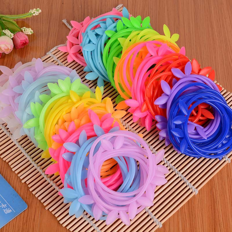 Candy Color Silicone Disposable Rabbit Ear Crown Rubber Band Women And Children Hair Assessories Wholesale 100 pcs/lot A12R13C(China (Mainland))