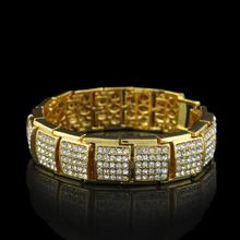 Buy 2017 new arrive mens bling bling hip hop bracelet iced 21.5cm long link chain bracelets men jewelry for $8.55 in AliExpress store
