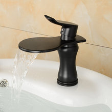 Buy waterfall Black bronze faucet bathroom single handle Antique blackend sink tap cold hot mixer tap basin mixer waterfall tap for $44.99 in AliExpress store