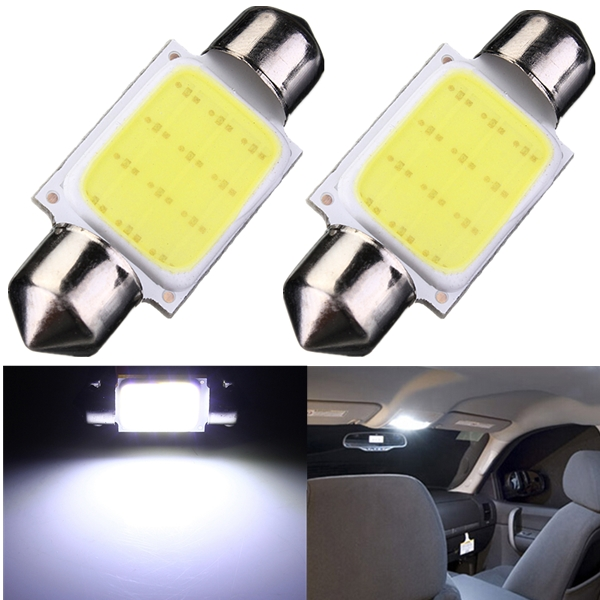 1Pcs High Quality 36mm Festoon COB 12 Chips DC 12V LED Car Dome Reading Lights Auto Interior Lamps Super Bright Bulbs Power(China (Mainland))