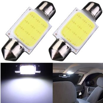 High Quality 36mm Festoon COB 12 Chips DC 12V LED Car Dome Reading Lights Auto Interior Lamps Super Bright Bulbs Power