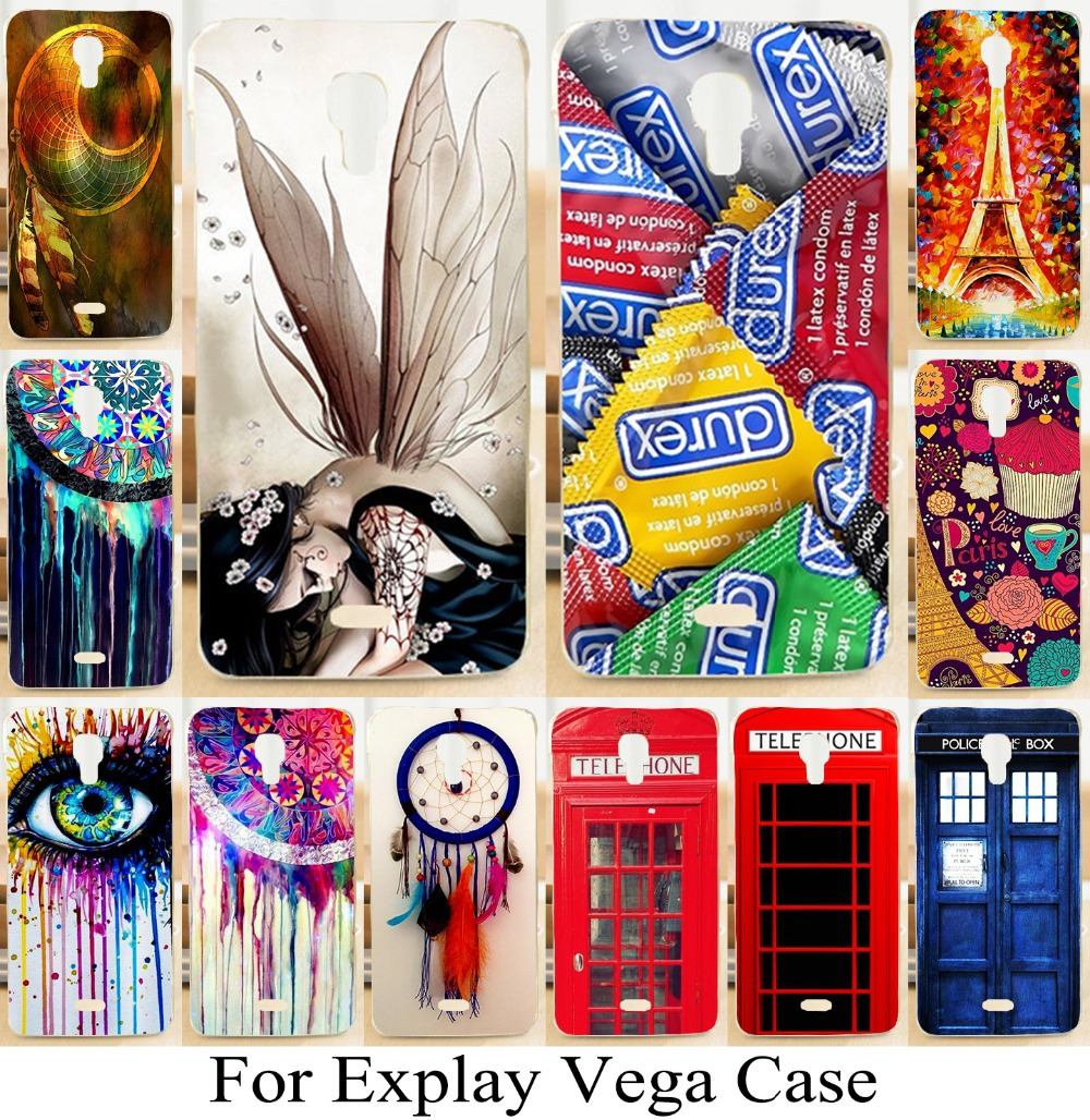 2015 Sale New Beautiful Case For Explay Vega Dreamcatcher Mix Color Telephone Booth Letters Series 3d Luxury Mobile Phone Cases(China (Mainland))