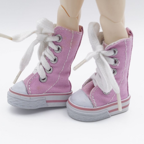 "Pink Sneaker Boots Flat Shoes For 1/6 11"" tall BJD Doll AOD AS YOSD DD DOLL G&D X1466(China (Mainland))"