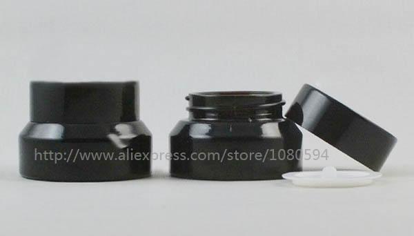 15g  High quality black cream jar,cosmetic jar,glass jar or cream container<br><br>Aliexpress