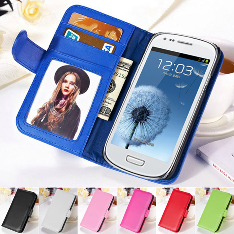 i8190 Photo Frame Flip Cover PU Leather Phone Bag Case For Samsung Galaxy S3 Mini i8190 Wallet Style Stand Design Cases Tomkas(China (Mainland))