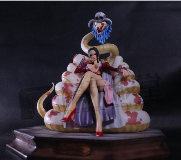 MODEL FANS One Piece 25cm Boa Hancock Sitting position gk resin toy Figure for Collection(China (Mainland))