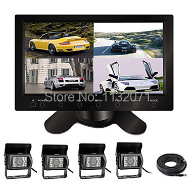 9'' Car Monitor with Four Build-in Splitter Display Function and Four Cameras for Truck and Bus(China (Mainland))