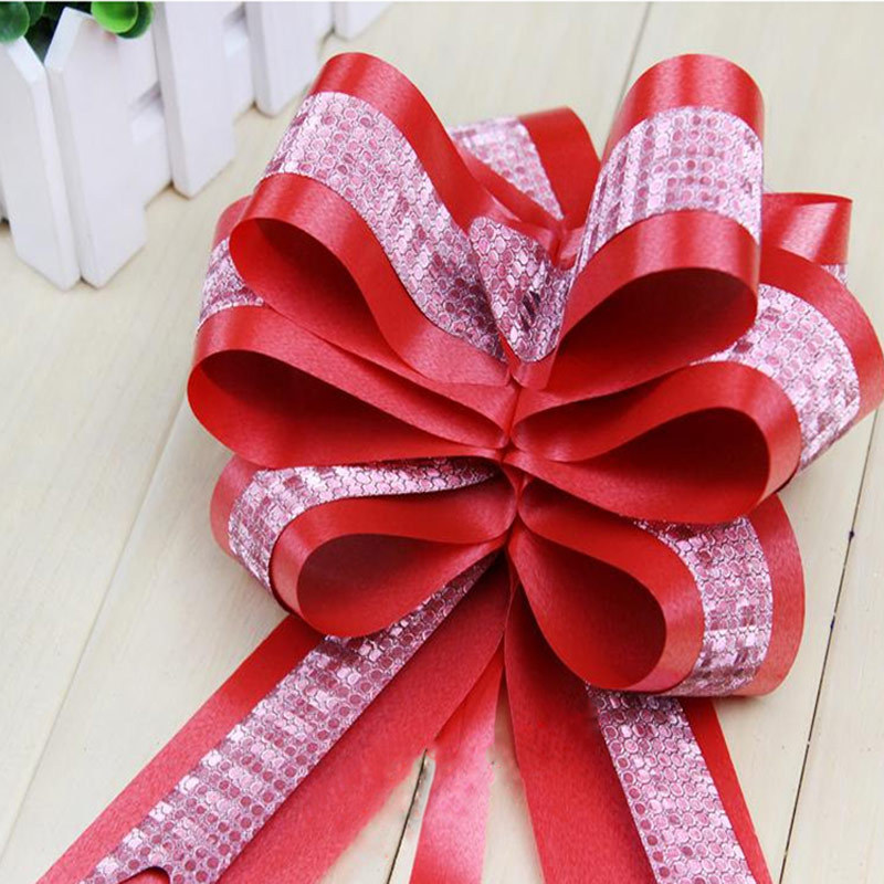 5 108CM Large Gift Bows Wrap 10Pcs lot Pull Flower Ribbon Bow For Wedding Car Party