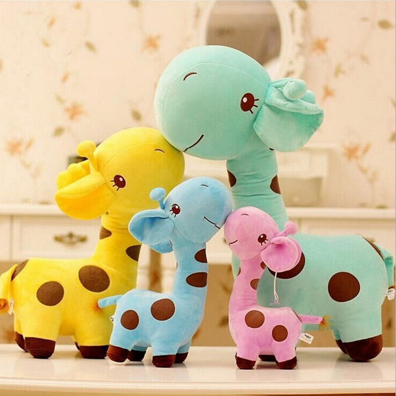 18cm 1PC Cute Plush Giraffe Toys Soft Colorful Animal Dear Doll Kawaii Spot Toy for Baby Kids Children Girls Birthday Gift(China (Mainland))